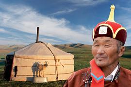 Martin Loew promítá Mongolsko