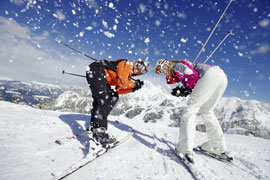 Lyžování a snowboarding v Alpách