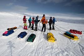 Výpravy na běžkách do Laponska