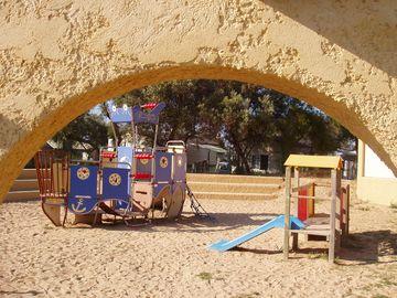 Dětské hřiště v kempu (Palavas-les-Flots)