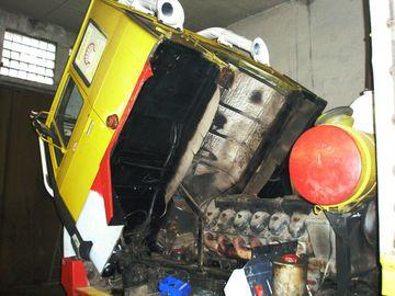 Stav motoru před repasí