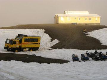 Zapadnutí do sněhu na ledovci Vatnajekull