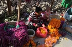 Na tržnici v Káthmándú