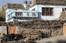 Vysokohorská vesnička Kagbeni