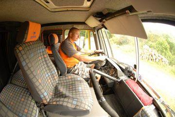 Vnitřek kabiny řidiče