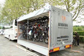 Cyklovlek - závěsný systém