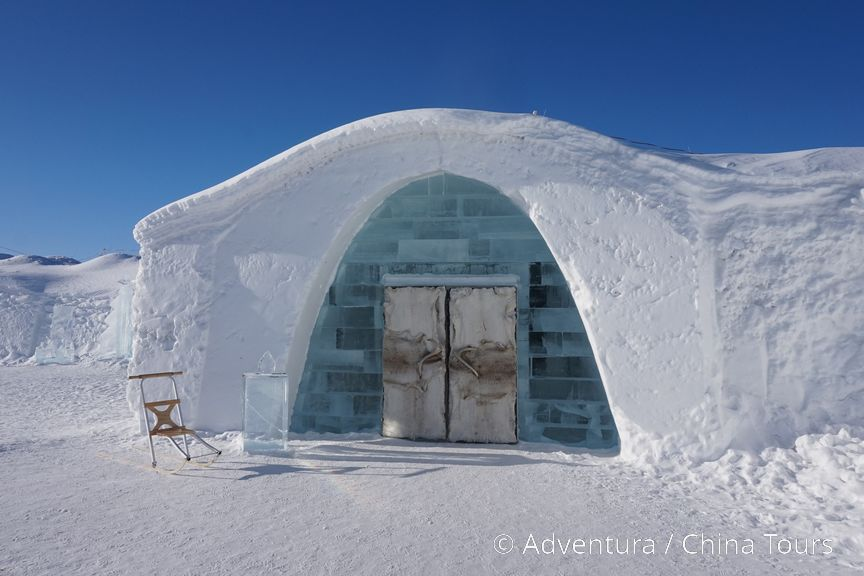 Ledový hotel Jukkasjärvi