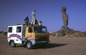 Růžena na expedici Libye 2002